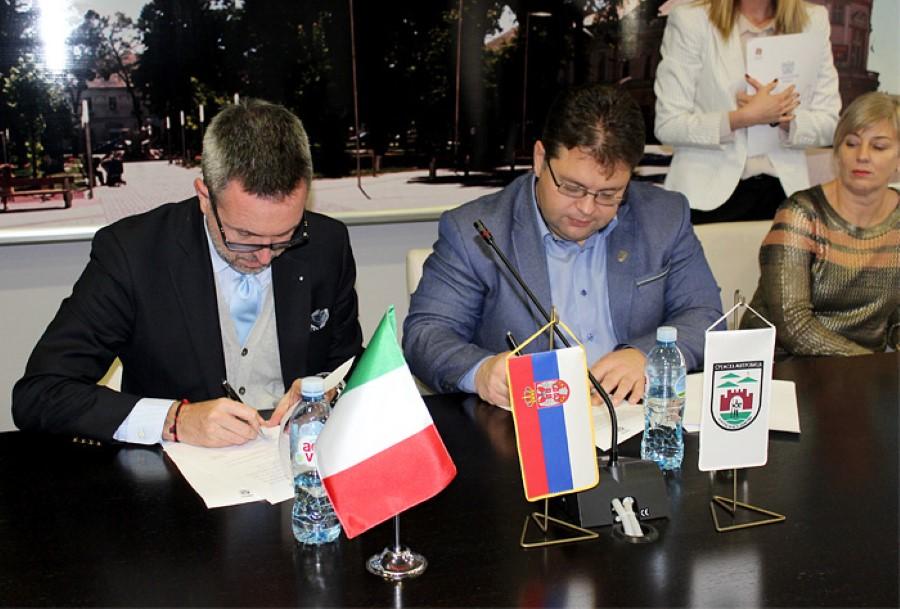 Memorandum di collaborazione tra Sremska Mitrovica e Confindustria Serbia